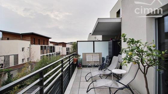 A LOUER, Montpellier, Les Grisettes, T2 meublé 44m² proche tramway + grande terrasse + parking en sous-sol