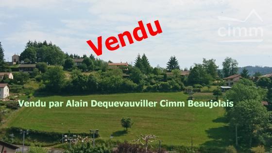 A VENDRE TERRAIN CONSTRUCTIBLE DE 6643 M² A GRANDRIS 69870 4 à 5 Lots possibles. Rare sur ce secteur !