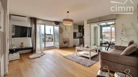 Montpellier/Ovalie MAGNIFIQUE T3 toît-terrasse meublé 68m² + 2 parkings