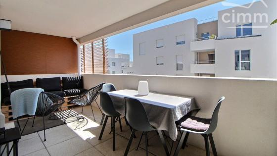 Montpellier, Ovalie, T3 de 60 m2 avec terrasse de 11 m2 et parking privatif