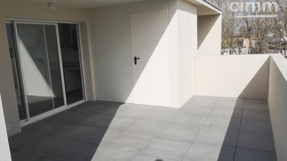 A LOUER, Sérignan, T3 NEUF 57m², grande terrasse, cellier et parking