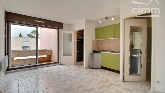 A LOUER, Montpellier, Plan des 4 Seigneurs, Studio 23m², balcon, garage