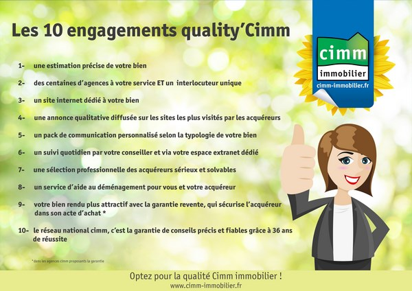 Nos 10 engagements quality'CIMM